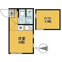 シャンボール横濱[103号室]の間取り
