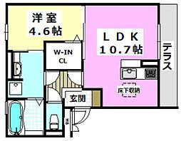 Flower Original 1階1LDKの間取り