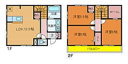[テラスハウス] 千葉県我孫子市我孫子1丁目 の賃貸【/】の間取り