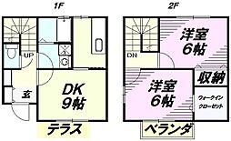 [テラスハウス] 埼玉県所沢市中新井5丁目 の賃貸【/】の間取り