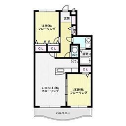 セントラル23[4階]の間取り