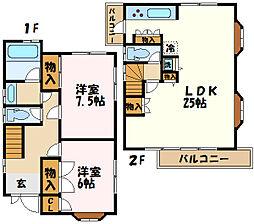 横浜市営地下鉄グリーンライン センター南駅 徒歩15分の賃貸一戸建て 1階2LDKの間取り