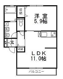 パインツリー E[2階]の間取り