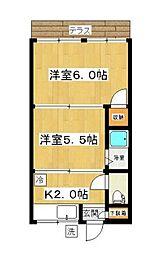 武蔵野ハイツ[101号室]の間取り
