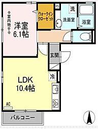 東武伊勢崎線 竹ノ塚駅 徒歩26分の賃貸アパート 3階1LDKの間取り