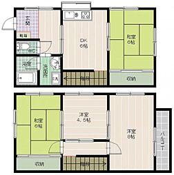 [タウンハウス] 福岡県福岡市西区福重4丁目 の賃貸【/】の間取り