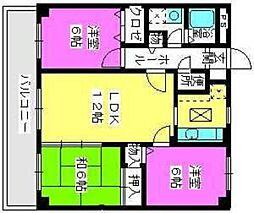 福岡県福岡市西区下山門1丁目の賃貸マンションの間取り