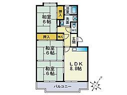 池田ビル[402号室]の間取り