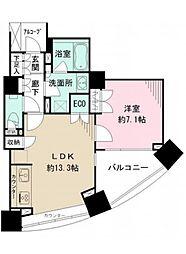 パークハウス オー・タワー 11階1LDKの間取り