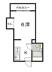 ブライトンハウス3[304号室]の間取り