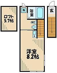 ar日野本町 2階ワンルームの間取り