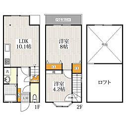 COZY PLACE 名島三の丸[1階]の間取り