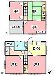 [一戸建] 岡山県倉敷市連島町連島 の賃貸【/】の間取り