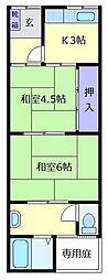 [テラスハウス] 大阪府松原市天美東8丁目 の賃貸【/】の間取り