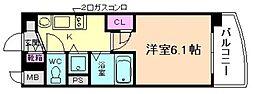 プレサンス天満ステーションフロント[13階]の間取り