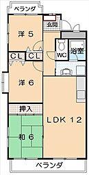 愛知県みよし市三好丘緑4丁目の賃貸マンションの間取り