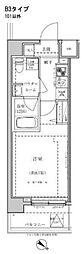 パティーナ東武練馬 5階1Kの間取り