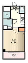 西武新宿線 井荻駅 徒歩5分の賃貸マンション 2階1Kの間取り