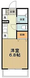 JR中央線 八王子駅 バス20分 中野市民センター下車 徒歩6分の賃貸マンション 1階1Kの間取り
