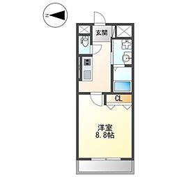 JR阪和線 和歌山駅 徒歩10分の賃貸マンション 3階1Kの間取り