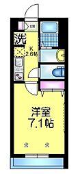 JR総武線 東船橋駅 徒歩14分の賃貸マンション 1階1Kの間取り