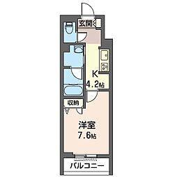仮)中原区木月1丁目シャーメゾン 3階1Kの間取り