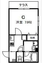 シャッツクヴェレ東日本橋[1階]の間取り