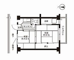 ビレッジハウス真壁3号棟[207号室]の間取り