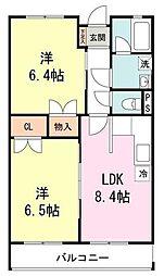 第三幸栄マンション[3階]の間取り