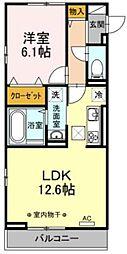 Lupinus A棟 ~ルピナス~ 3階1LDKの間取り
