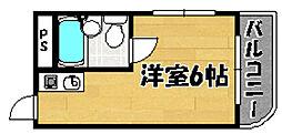 阪急京都本線 上新庄駅 徒歩18分の賃貸マンション 1階ワンルームの間取り
