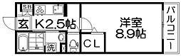 グラシオッソII[1階]の間取り