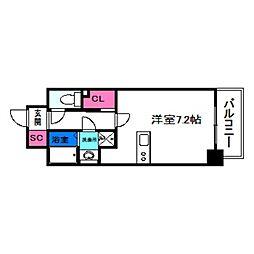 SOAR NAGAI EKIMAE 7階ワンルームの間取り