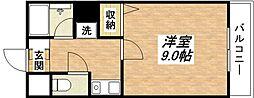 JR関西本線 平野駅 徒歩8分の賃貸マンション 7階1Kの間取り