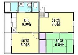 高越マンション[1階]の間取り