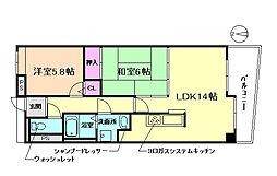 ハピネス743[2階]の間取り
