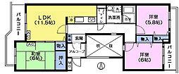 エスポワール大泉学園[2階]の間取り