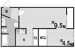 Glanz グランツ[3階]の間取り