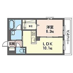 鶴見区生麦3丁目シャーメゾン (仮) 4階1LDKの間取り