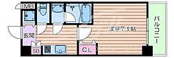 おおさか東線 城北公園通駅 徒歩7分の賃貸マンション 3階1Kの間取り