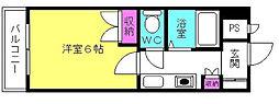 D−スクウェア加古川[4階]の間取り