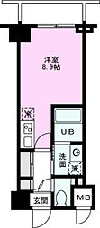 ART APARTMENT IN TOKYO NORTH 5階ワンルームの間取り