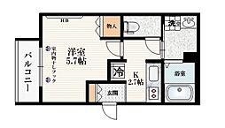 JR山手線 池袋駅 徒歩8分の賃貸マンション 2階1Kの間取り