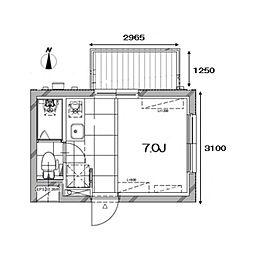 Apartment KURO武蔵小山I[4階]の間取り