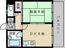メゾンドオクノ[2階]の間取り