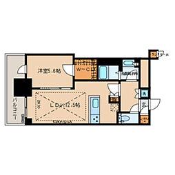 都営大江戸線 春日駅 徒歩1分の賃貸マンション 11階1LDKの間取り
