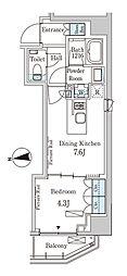 東京メトロ半蔵門線 半蔵門駅 徒歩6分の賃貸マンション 4階1DKの間取り