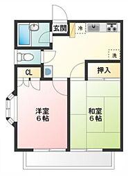 メゾンフローラ[1階]の間取り