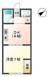 富士荘D[2階]の間取り