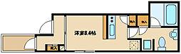 オーバルコート町田中町 4階ワンルームの間取り